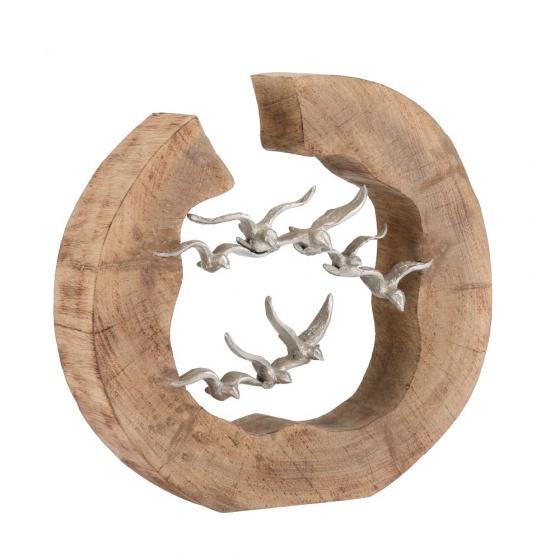 Tượng hình chim MALINDA Màu gỗ tự nhiên Index Living Mall