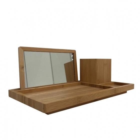 Hộp đựng dụng cụ trang điểm MAKIE Màu gỗ tự nhiên Index Living Mall