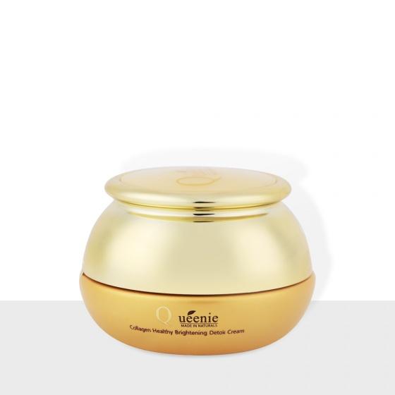 Kem thải độc tố loại bỏ nám, mụn, làm trắng da bổ sung Collagen Queenie - Mỹ Phẩm Hàn Quốc