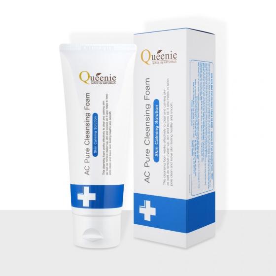 Sữa rửa mặt tạo bọt Queenie AC dành cho da mụn, da nhạy cảm - Mỹ phẩm Hàn Quốc
