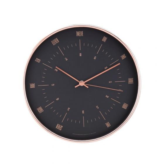 Đồng hồ treo tường ZAFANA Màu đồng đỏ Index Living Mall