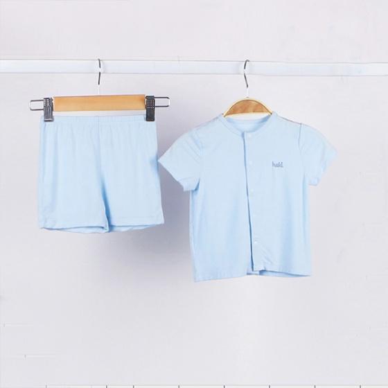 Bộ cộc tay cho bé cài giữa vải tre cao cấp Haki size 0-3y  BB001