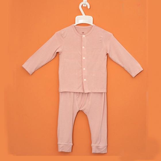 Bộ dài tay cho bé cài giữa vải tre cao cấp HAKI  (newborn - 3y) BB003