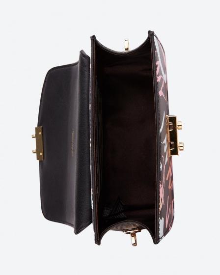 Túi hộp mini Venuco Madrid - Đen cam - B155
