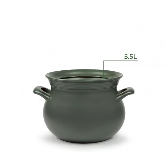 Nồi sứ dưỡng sinh Minh Long - Hathor 5.5L bếp từ kèm nắp