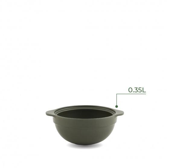 Nồi sứ dưỡng sinh Minh Long - Luna 0.35L kèm nắp