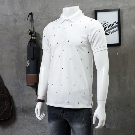Áo thun nam polo họa tiết thanh lịch cao cấp pigo fashion aht28 chọn màu