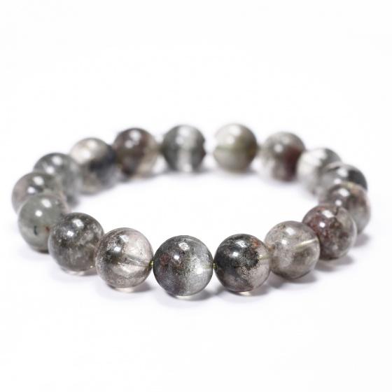 Vòng tay đá thạch anh ưu linh đa sắc 13mm - Ngọc Quý Gemstones