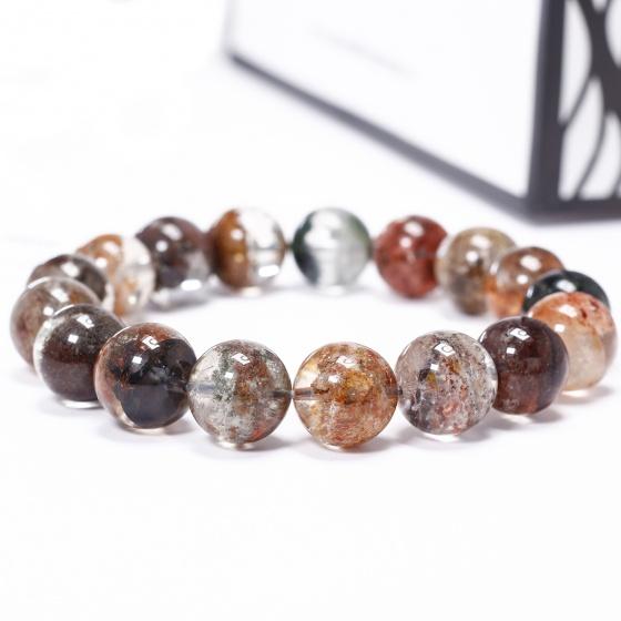 Vòng tay đá thạch anh ưu linh đa sắc size hạt 13mm - Ngọc Quý Gemstones