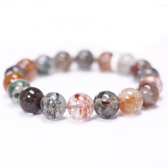 Vòng tay đá thạch anh ưu linh đa sắc size hạt 11mm - Ngọc Quý Gemstones
