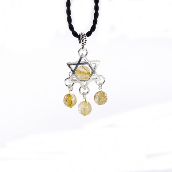 Bộ trang sức đá thạch anh tóc vàng mệnh thủy, kim - Ngọc Quý Gemstones