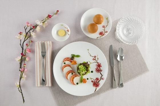 Bộ đồ ăn 14 sản phẩm - Daisy IFP - hồng đào