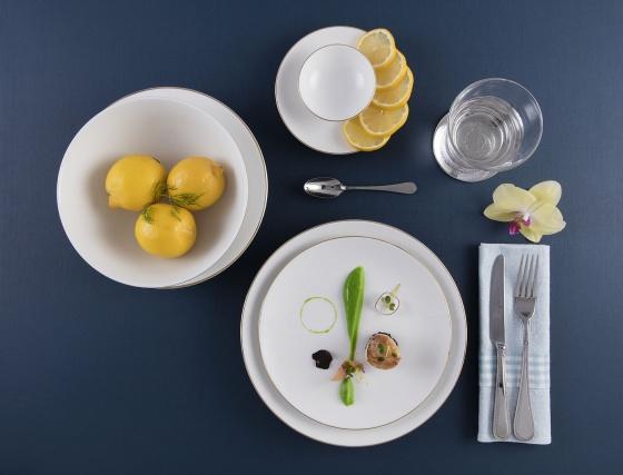 Bộ đồ ăn Minh Long 9 sản phẩm Daisy IFP - bắt chỉ vàng