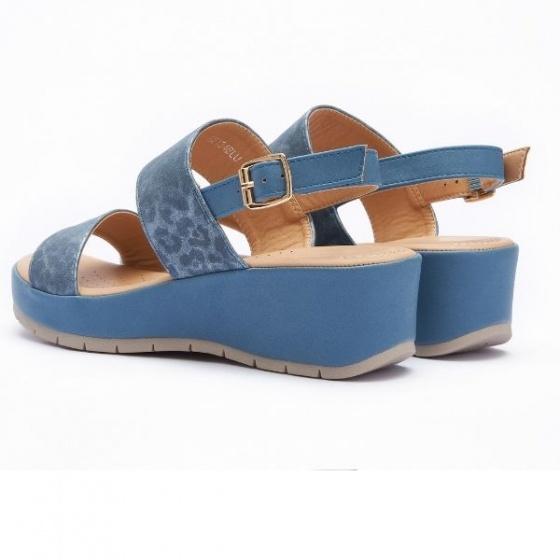 Giày nữ đế cao Pierre Cardin PCWFWSE134BLU