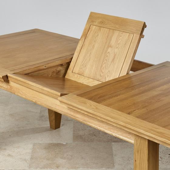 Bàn ăn kéo dài Holy gỗ sồi (160 lên 210cm)