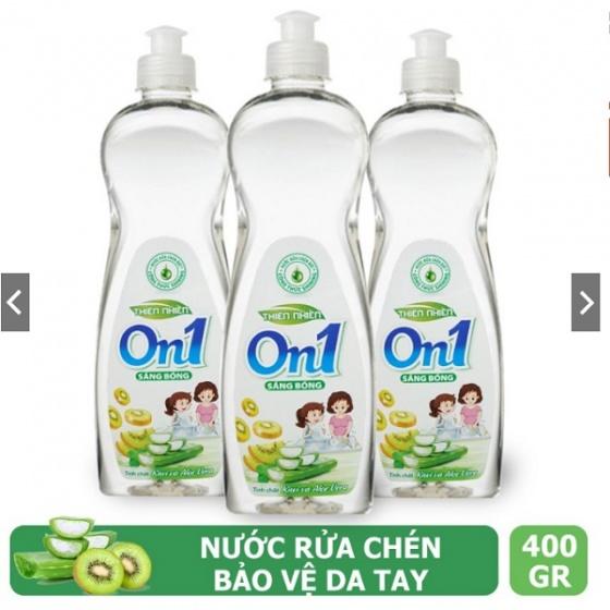 Nước rửa chén On1 dung tích 400g - Nhiều mùi hương - Sạch bóng vết dầu mỡ