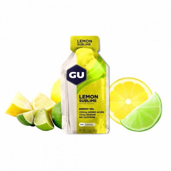 Hộp 24 gói gel uống bổ sung năng lượng Gu Energy gel vị chanh