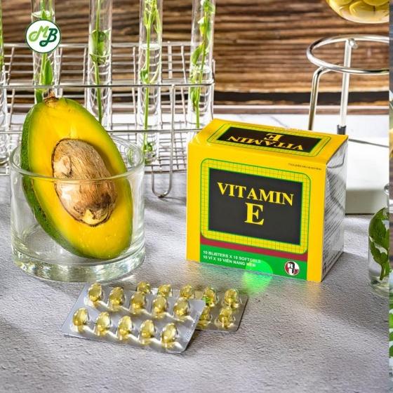 Viên uống bổ sung vitamin E , chống oxy hóa , hạn chế lão hóa da - Vitamin E hộp 100 viên