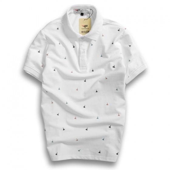 Combo 3 áo thun nam cổ bẻ họa tiết full áo chuẩn phong cách pigofashion Aht28 chọn màu