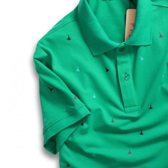 Set 3 áo thun nam cổ bẻ polo họa tiết thanh lịch cao cấp Pigofashion aht28 Xanh đen, Xanh vịt, Xám