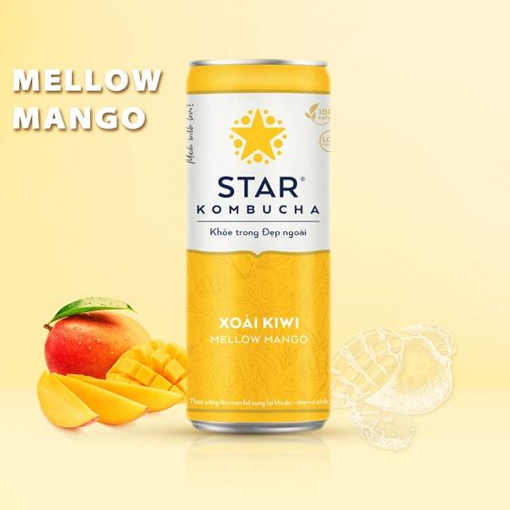 Thùng 12 lon thức uống lên men STAR KOMBUCHA Xoài Kiwi - Mellow Mango