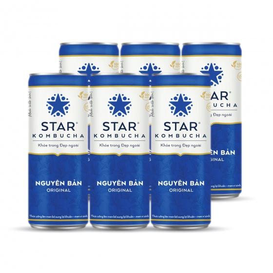 Khay 30 lon thức uống lên men STAR KOMBUCHA Nguyên Bản - Original