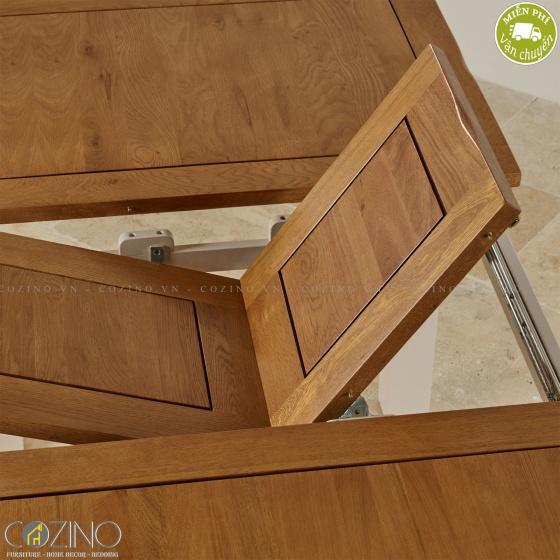 Bàn ăn kéo dài Sintra gỗ sồi (150 lên 200cm)