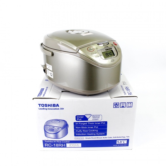 Nồi cơm cao tần Toshiba 1,8l IH RC-18RH(CG)VN hàng chính hãng