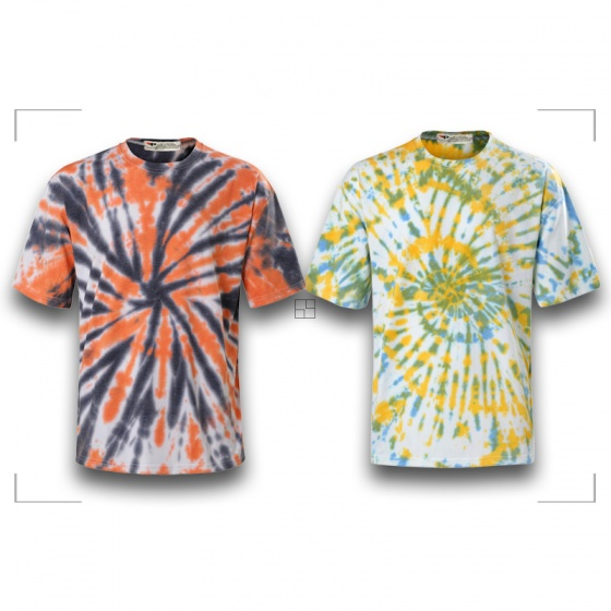 Bộ 2 áo thun loang màu độc đáo chất thun cao cấp Pigo fashion Atlkl chọn màu