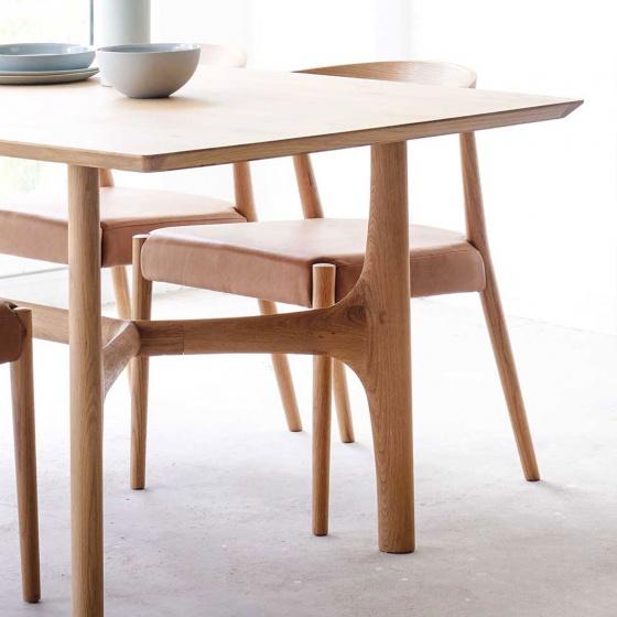 Bàn ăn 4 chỗ Nexus gỗ sồi 1m2 (120x60cm) - cozino