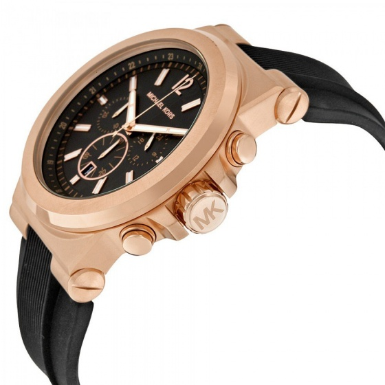 Đồng hồ nam chính hãng Michael Kors MK8184 bảo hành toàn cầu - Máy pin dây Silicone