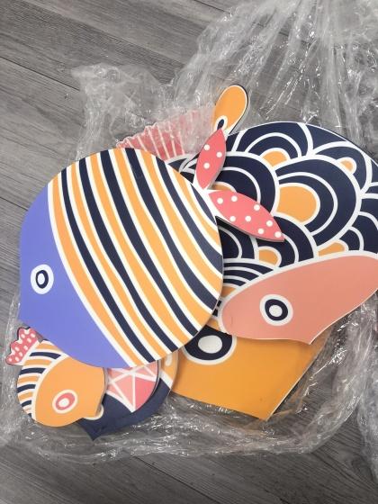 Bộ tranh color fish treo tường trang trí phòng khách , phòng ngủ , phòng ăn - 01
