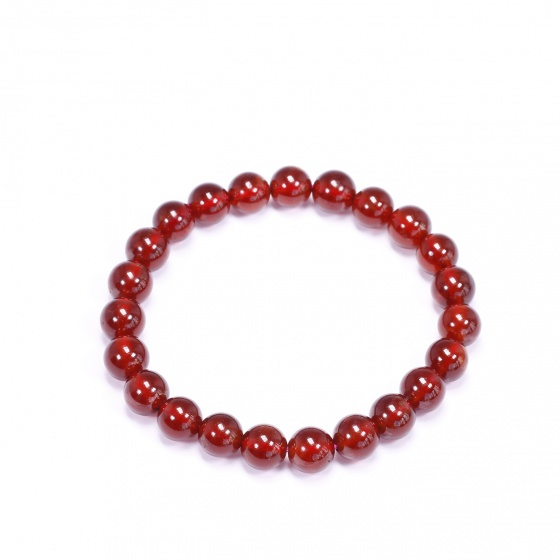 Vòng tay đá ngọc hồng lưu garnet AAA hạt 8mm mệnh hỏa, thổ - Ngọc Quý Gemstones