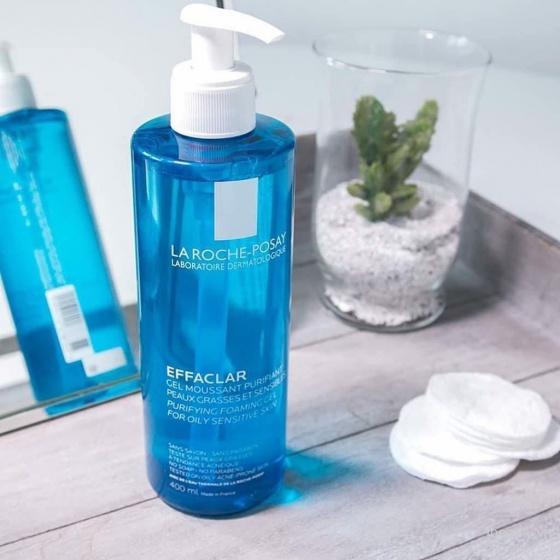 Gel rửa mặt tạo bọt cho da dầu nhạy cảm La Roche-Posay Effaclar Gel Moussant Purifiant 400ml