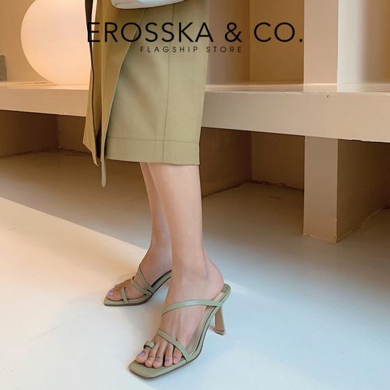Dép cao gót thời trang Erosska xỏ ngón cao 7cm EM065