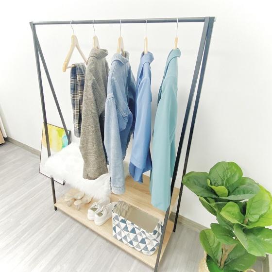 Gía treo quần áo rosi f2 - khung sắt  gm03 thương hiệu igea thích hợp nhiều công năng
