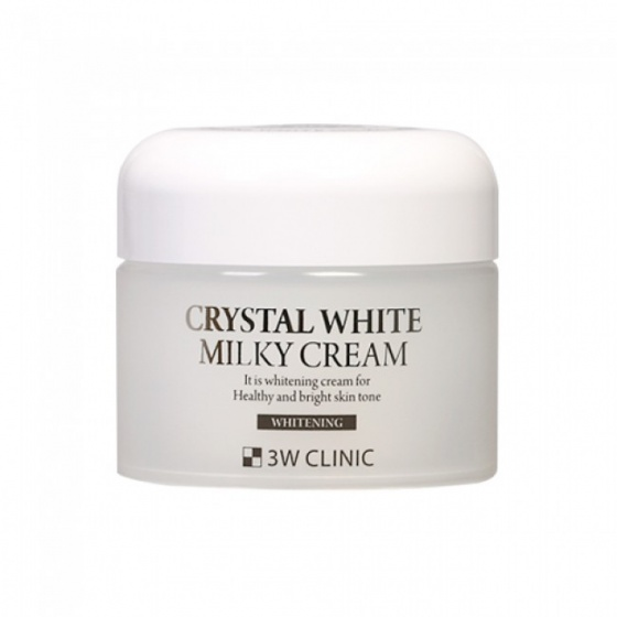 Kem dưỡng trắng da 3W Clinic Crystal White Milky Cream 50g