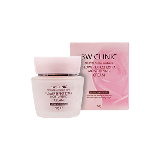 Kem dưỡng 3W Clinic Flower Effect Extra Moisturizing Cream 50g