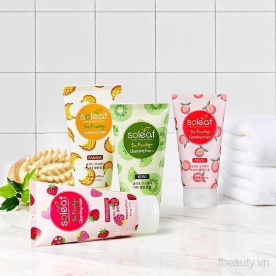 Sữa rửa mặt làm sạch sâu SOLEAF So Fruity Strawberry Cleansing Foam 150ml