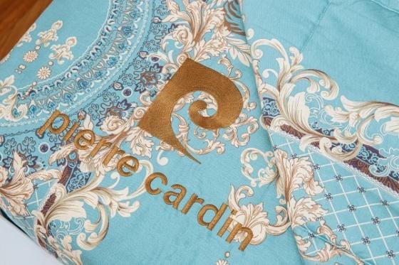 Bộ drap hoa văn lý cotton Pierre Cardin