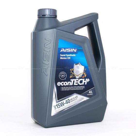 Nhớt động cơ AISIN ECSI1544P 15W-40 CI4  SL Semi Synthetic 4L