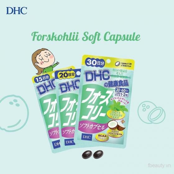 Viên uống giảm cân DHC Forskohlii Soft Capsule 15 ngày x 30 viên