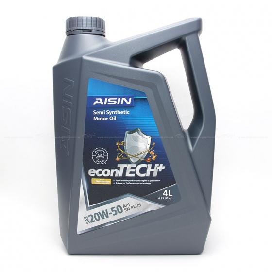 Nhớt động cơ AISIN ESSN2054P 20W-50 SN PLUS econTECH+ Semi Synthetic 4L