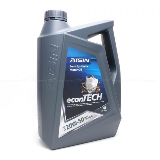 Nhớt động cơ AISIN ECSF2054P 20W-50 CF4  SG Semi Synthetic 4L