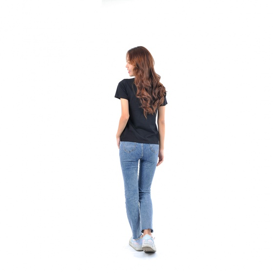 Áo thun nữ tay ngắn cổ tròn thời trang Eden in chữ - AT095