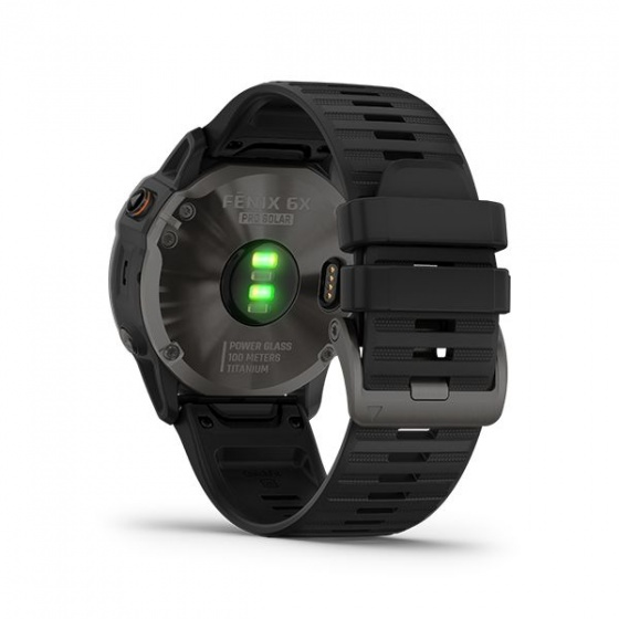 Đồng hồ Garmin Fēnix 6X Pro Solar - Đen, dây carbon