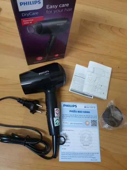 Máy sấy tóc du lịch Philips BHC010 Black 1200W