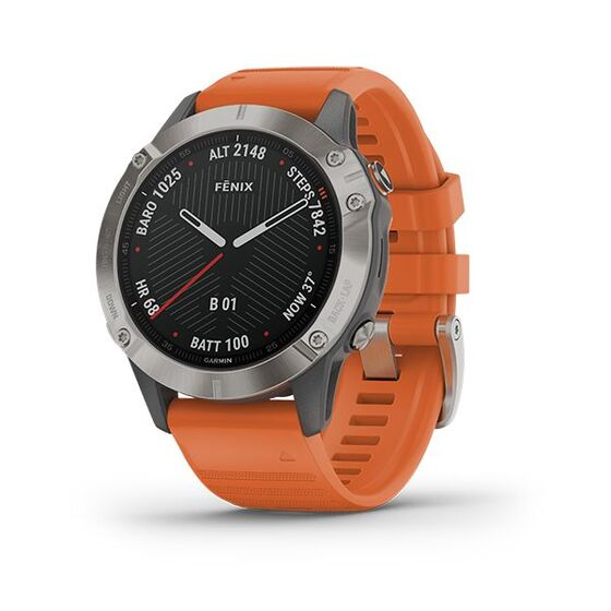 Đồng hồ Garmin Fēnix 6 Sapphire  - Cam