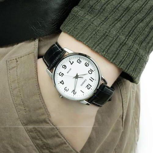 Đồng hồ nam dây da Casio Standard chính hãng Anh Khuê MTP-1303L-7BVDF