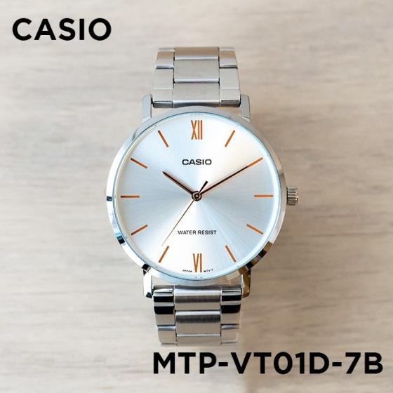 Đồng hồ nam dây kim loại Casio Standard chính hãng Anh Khuê MTP-VT01D-7BUDF